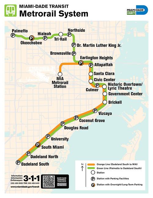 new miami metrorail map
