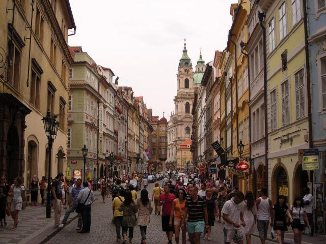 Prague streets Czech Republic